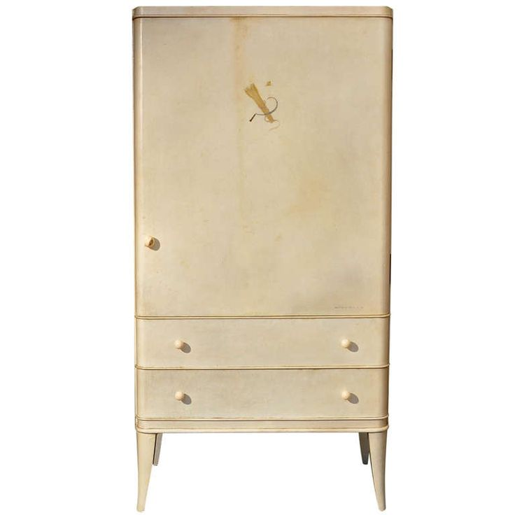 André Arbus - Unique Parchment Cabinet Ordered in 1936   From a unique collection of antique and modern cabinets at http://www.1stdibs.com/furniture/storage-case-pieces/cabinets/