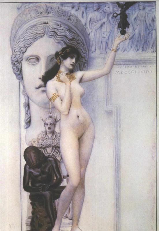 Allegory of Sculpture, 1889, Gustav Klimt