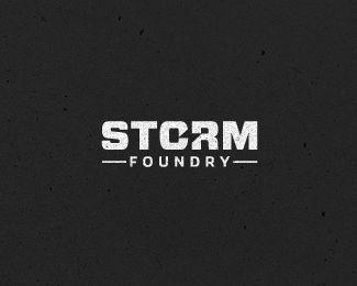 Great logotype for Storm Foundry integrating a lightning bolt into the typr - designed by Gert van Duinen, Netherlands