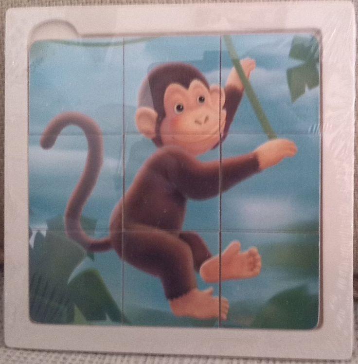 PUZLE DE MADERA MONO (4,90 €) #rompecabezas #puzzleparaniños #puzzlemadera http://www.babycaprichos.com/puzle-de-madera-mono.html