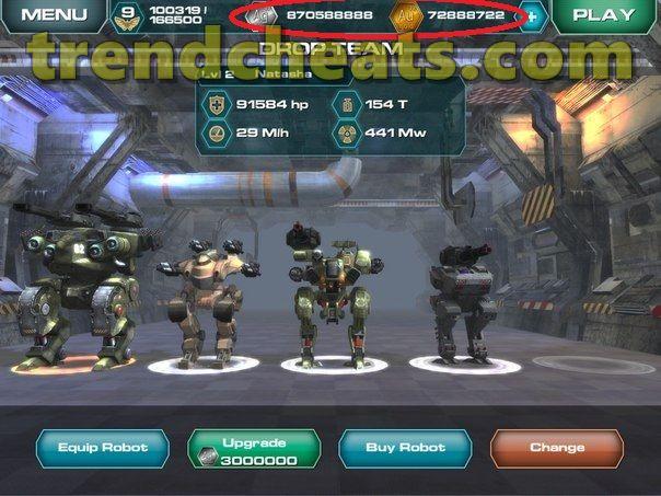 hack vàng war robots 2018