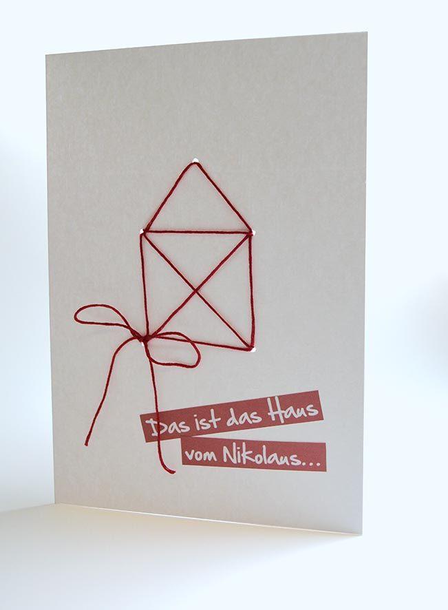 """Hallo Ihr Lieben, heute gibt es nun die Anleitung für """"Das Haus vom Nikolaus"""". Wie Ihr Euch sicherlich denken könnt, habe ich diese und die """"Fadenspiel-Karten"""" mit dem Stanz-Tool von BERNINA CrystalWo"""