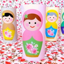 Use tubes of toilet paper to make this cute matrioshka dolls - Printables and tutorial