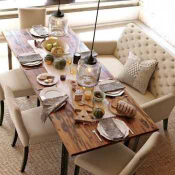 95 best images about Loveseat/Settee at dinner table on Pinterest ...