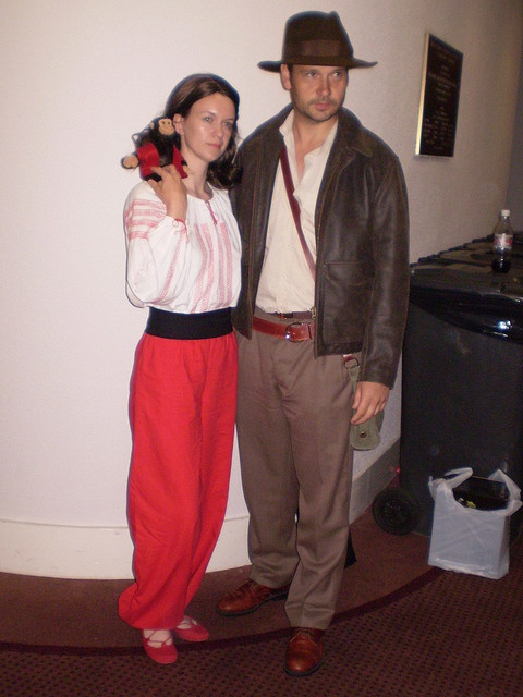 Marion Ravenwood and Indiana Jones by mandymaria, via Flickr