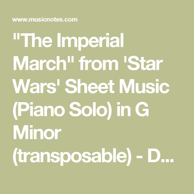 Sheet Music For Imperial March On Piano: 25+ Best Ideas About The Imperial March On Pinterest