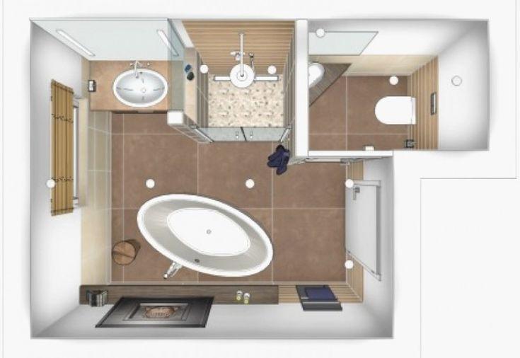 badezimmer 4 qm ideen elegantes designprojekt layout farben kombinieren schwarz holzoptik Badezimmer 4 qm planen – Ideen für praktische Raumgestalt…