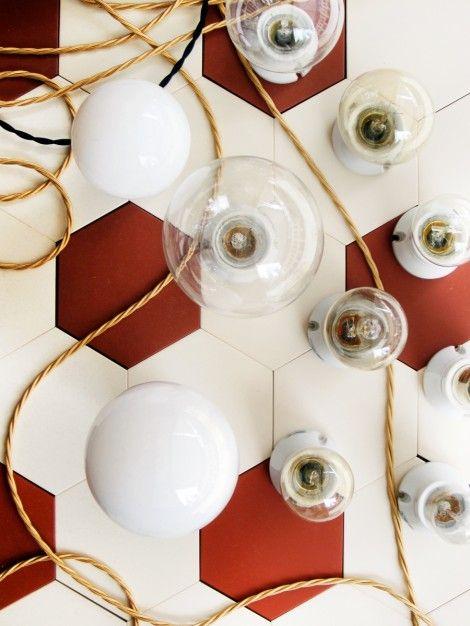 lightbulbs: Style Lightbulbs, Lights, Byggfabriken Store, Red Things, Tile Floor Patterns, Blog