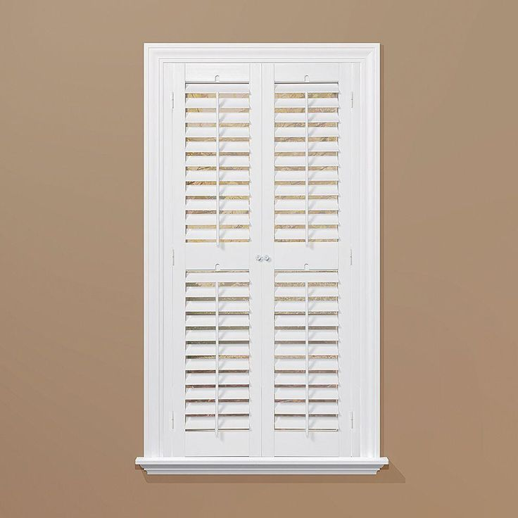 HOMEbasics Plantation Faux Wood White Interior Shutter (Price Varies By  Size) QSPA3960