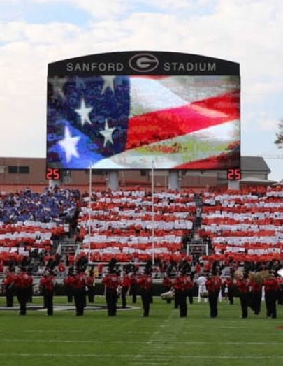 Honoring our Veterans on 11-12-16 game against Auburn.  Thank you UGA!