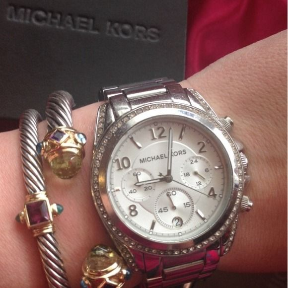 "Spotted while shopping on Poshmark: ""Michael Kors Blair Chronograph Oversize Watch""! #poshmark #fashion #shopping #style #Michael Kors #Jewelry"