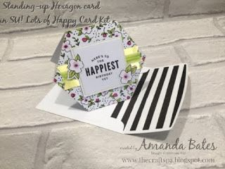 The Craft Spa - Stampin' Up! UK independent demonstrator : How to make the Lots of Happy Kit Hexagon card stand up...