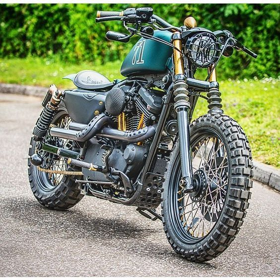 Under all that custom awesomeness is a Sportster 48! I wanna ride the dirt STAT!