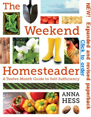 Weekend Homesteader. Encouraging self sufficient, self sustainable living.