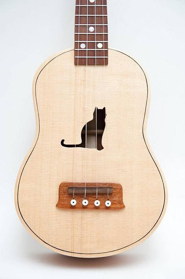 Cat Ukulele  30 Fashion & Household Items That Every Cat Lover Would Love To Own • BoredBug