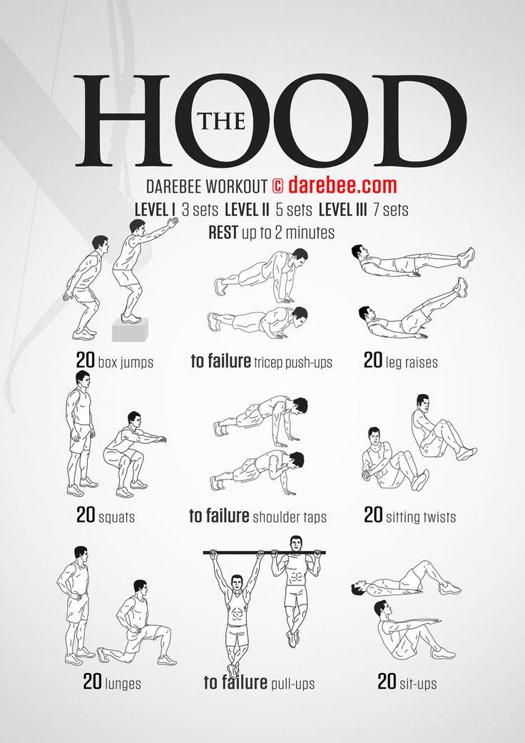 The Hood / Arrow Darebee Workout Exercises Pinterest