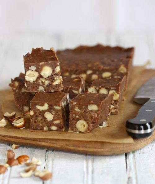 Recipe for Healthy Gluten-Free Diet: Dairy-Free and Vegan Chocolate Hazelnut Fudge