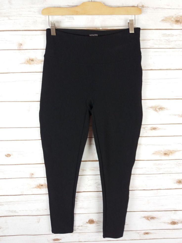 Assets Red Hot Label Spanx Size Large Black Leggings Shaping Slimming #AssetsRedHotLabelSpanx