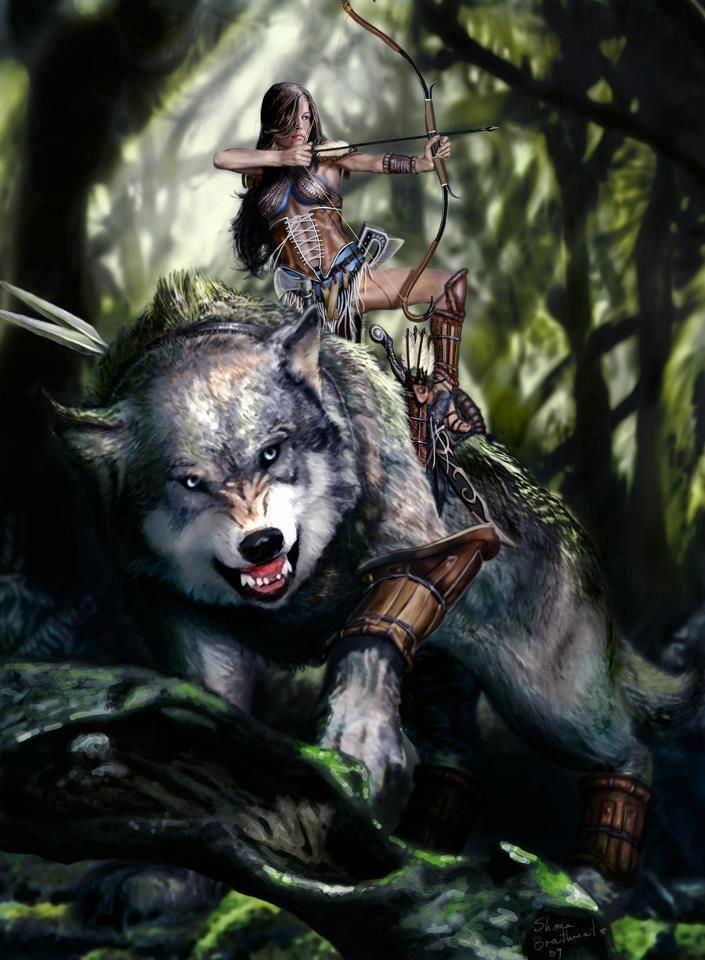 The Gaelic Goddess of the Hunt, Abnoba  The Celtic Wolf Goddess