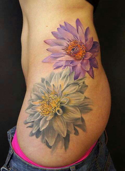 Color Daisy Tattoo: Tattoo 3d Flowers Daisy Pink