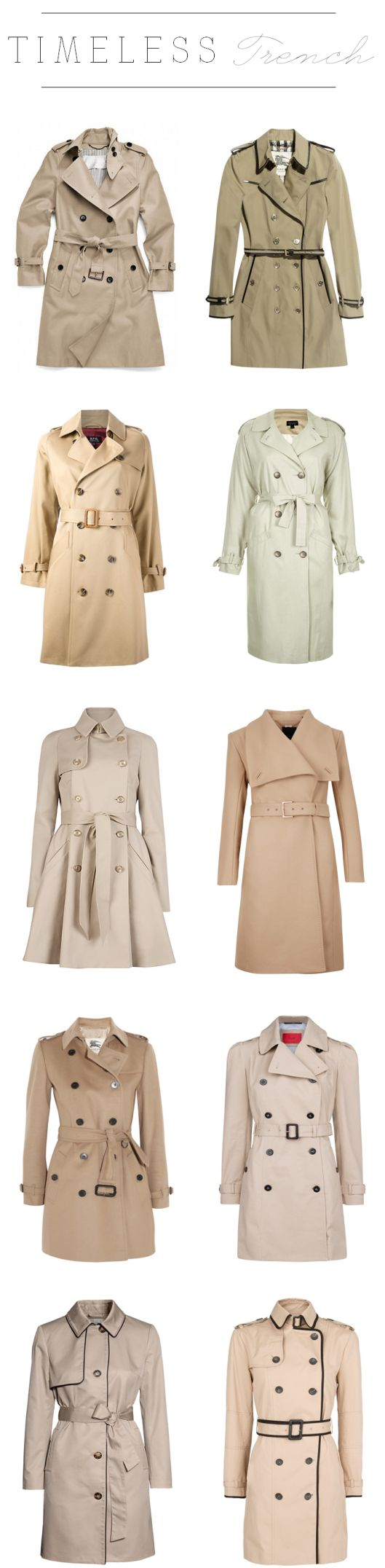 A trench coat is a great piece to own! It's the perfect fit for fall weather.