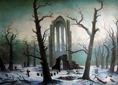Caspar David Friedrich | Klosterfriedhof im Schnee