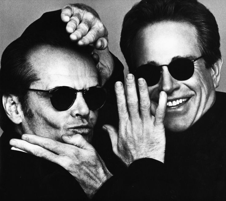 Jack Nicholson and Warren Beatty photographed by Herb Ritts, 1995.
