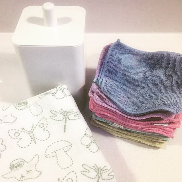 Since becoming a parent my plastic waste has trebled - with all the nappies and wet wipes...etc etc  I really want to use fewer wet wipes so I've been using @cheekywipes and traditional old #muslins - as a great alternative for mucky faces and snotty noses...  Little bin from Muji, muslins from Ikea and flannels from Cheeky Wipes