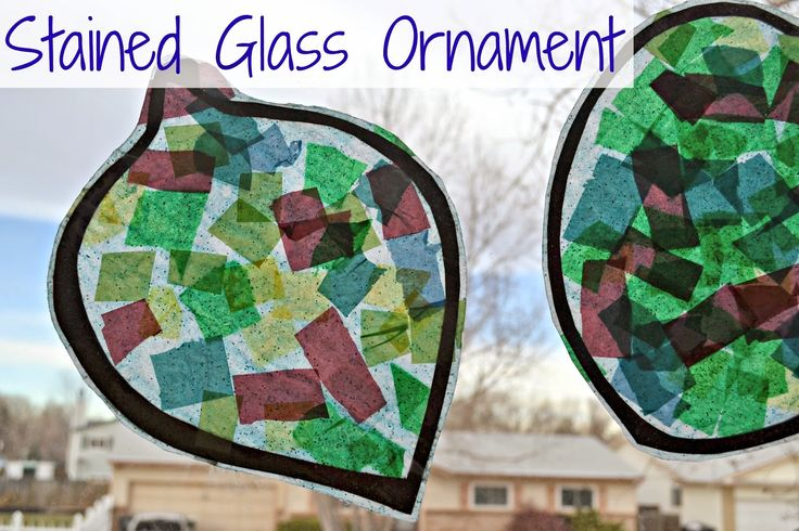 Stained Glass Ornament - Preschool Christmas Craft Idea Easy Christmas Craft for kids