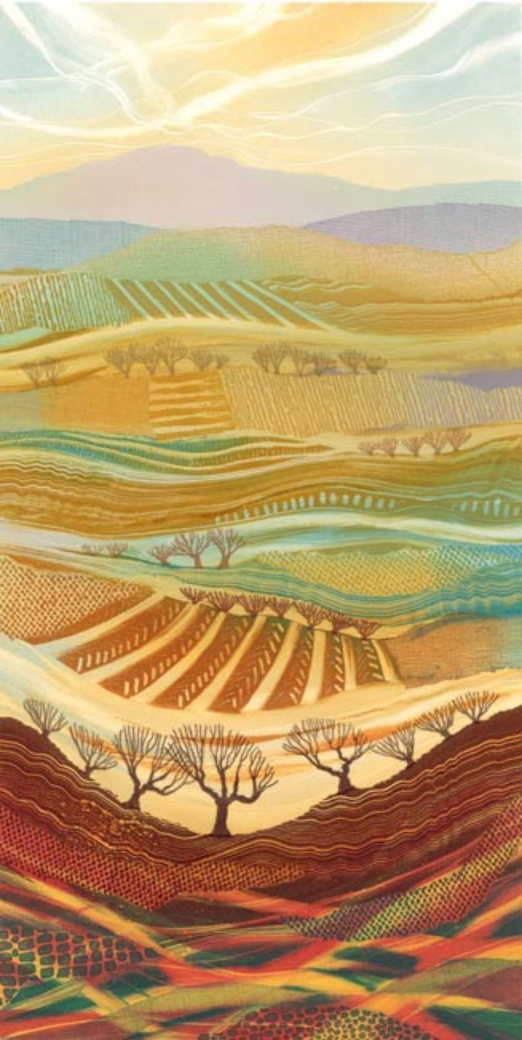 The Fabric of the Land by Rebecca Vincent; Idea for 4th grade color lesson