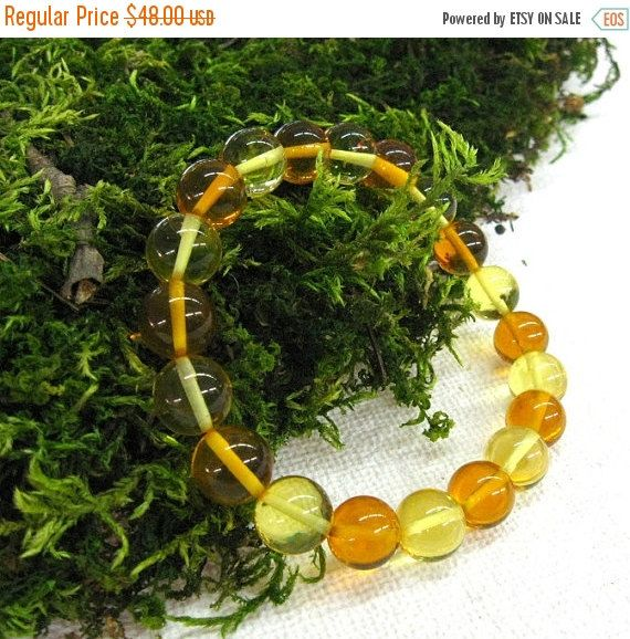 Your BEST GIFT Multi color Baltic Amber bracelet Honey lemon yellow round beads stackable energy bracelets natural amber jewelry friendship
