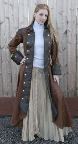 I found 'Surcoat Lady Captaion Leather Coat' on Wish, check it out!  what i think might be part of my wardrobe if i ever got to be on a Pirates movie.