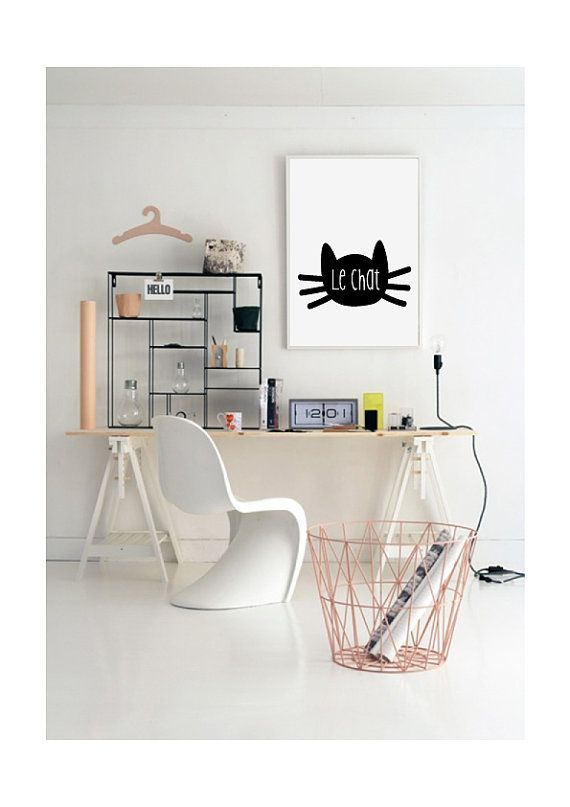 Le chat Affiche Scandinave Scandinavian Printable by VisualPixie