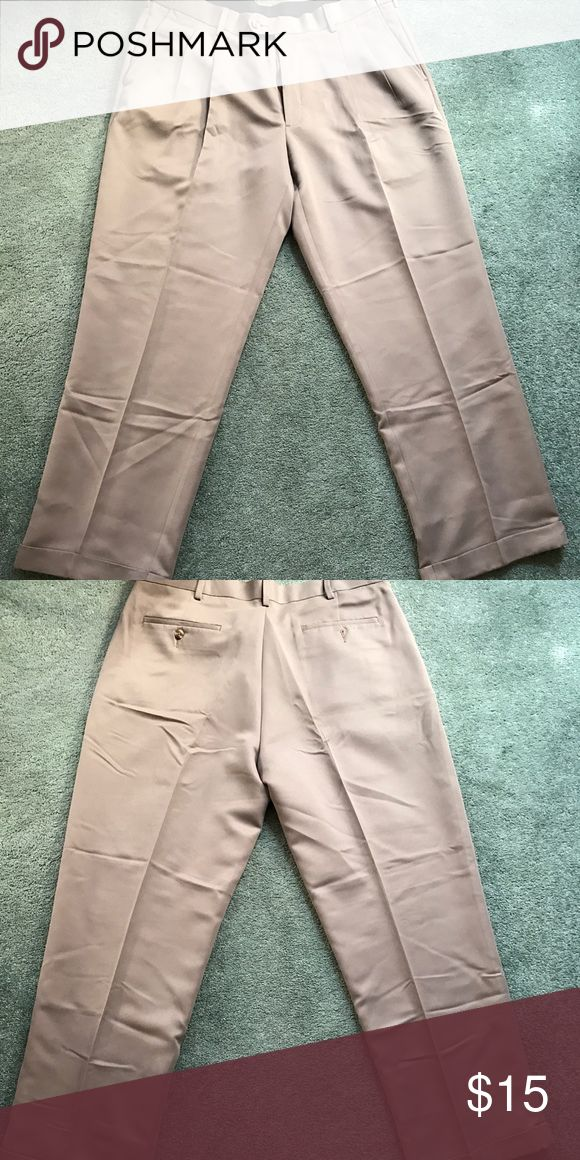 Men's Savane Tan Cuffed Dress Pants Savane Men's Cuffed Tan Dress Pants size 38x30, they have never been worn however the tag was removed, just a little wrinkled from storage! Please feel free to ask any questions. Savane  Pants Dress