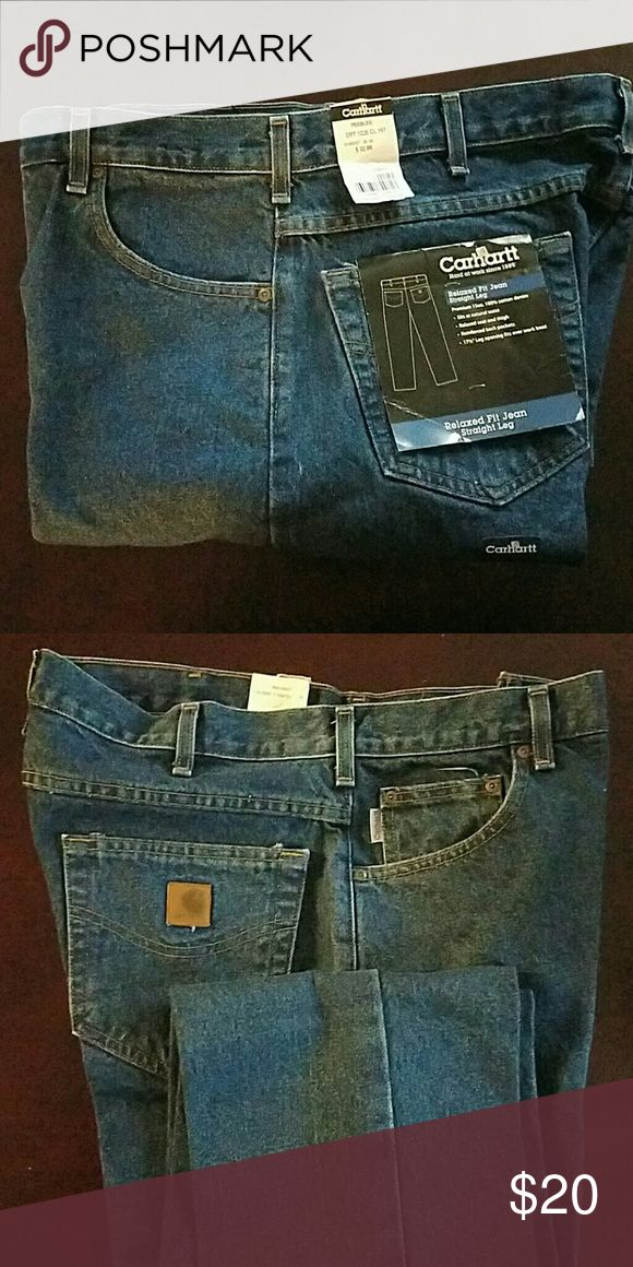 Carhart Jeans, New Relaxed Fit Jeans, Straight Leg Never Worn, 36W x 34L Carhartt Jeans Straight