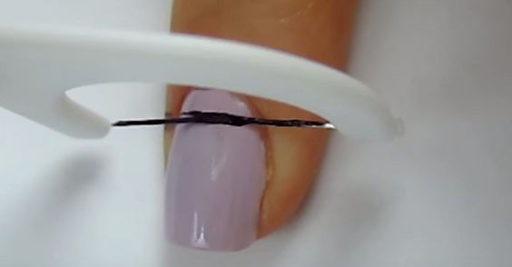 This Simple Trick Will Help You Create A Perfect Striped Manicure Every Single Time via LittleThings.com: