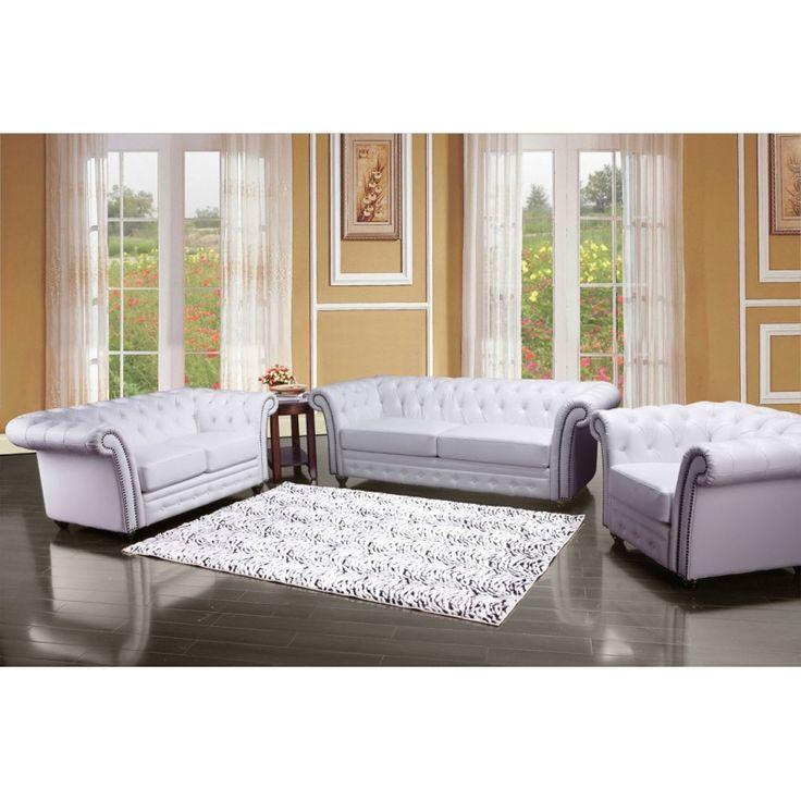 297 best Living room furniture images on Pinterest Living room - white leather living room furniture