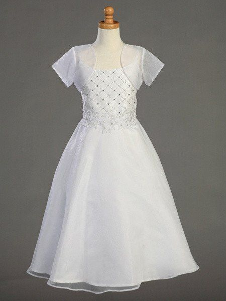 Communion Dress with Beaded Bodice & Bolero LT-SP952