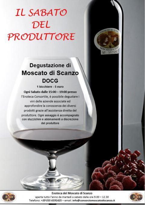 Il Sabato del Produttore: degustazione di Moscato di Scanzo DOCG fino al 4 giugno Scanzo (BG)