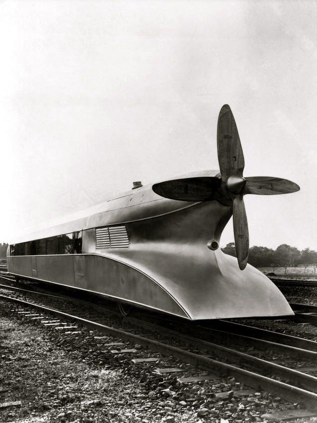 German train design Schienenzeppelin 1930