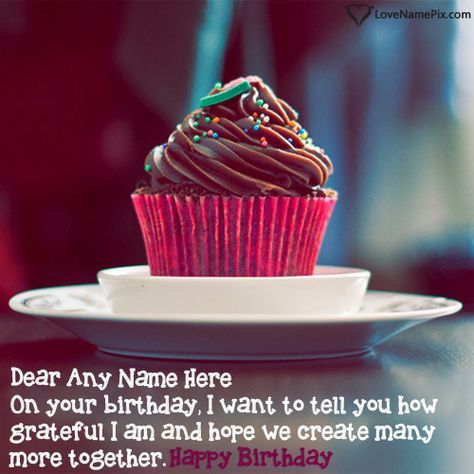 Create beautiful Vintage Chocolate Cupcake For Birthday Wishes online and send your best wishes to your lover on birthday. Awesome Best Happy Birthday Wishes Images with best birthday quotes to print any name on birthday cards and Surprise your love by sending these happy birthday wishes and greetings images.A Unique and best way to make anyone's birthday awesome.