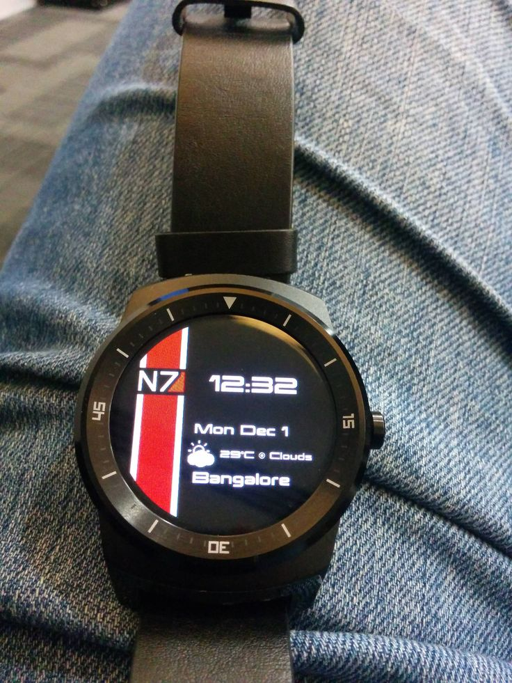 Masseffect N7 Face On A Smart Watch Gaming Related