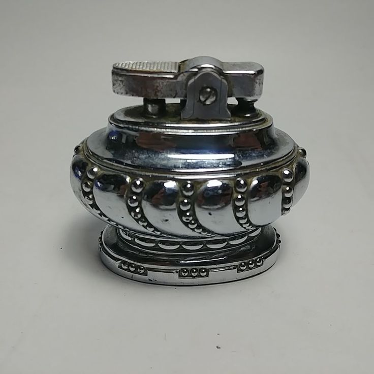 Rare Vintage Table Cigarette Lighter with Nice Chrome Finish - Made in Japan
