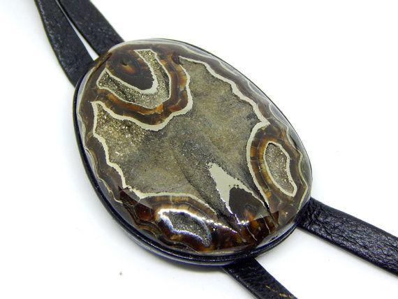 Pendentif Géode de pyrite Valkyrie pendentif marcassite