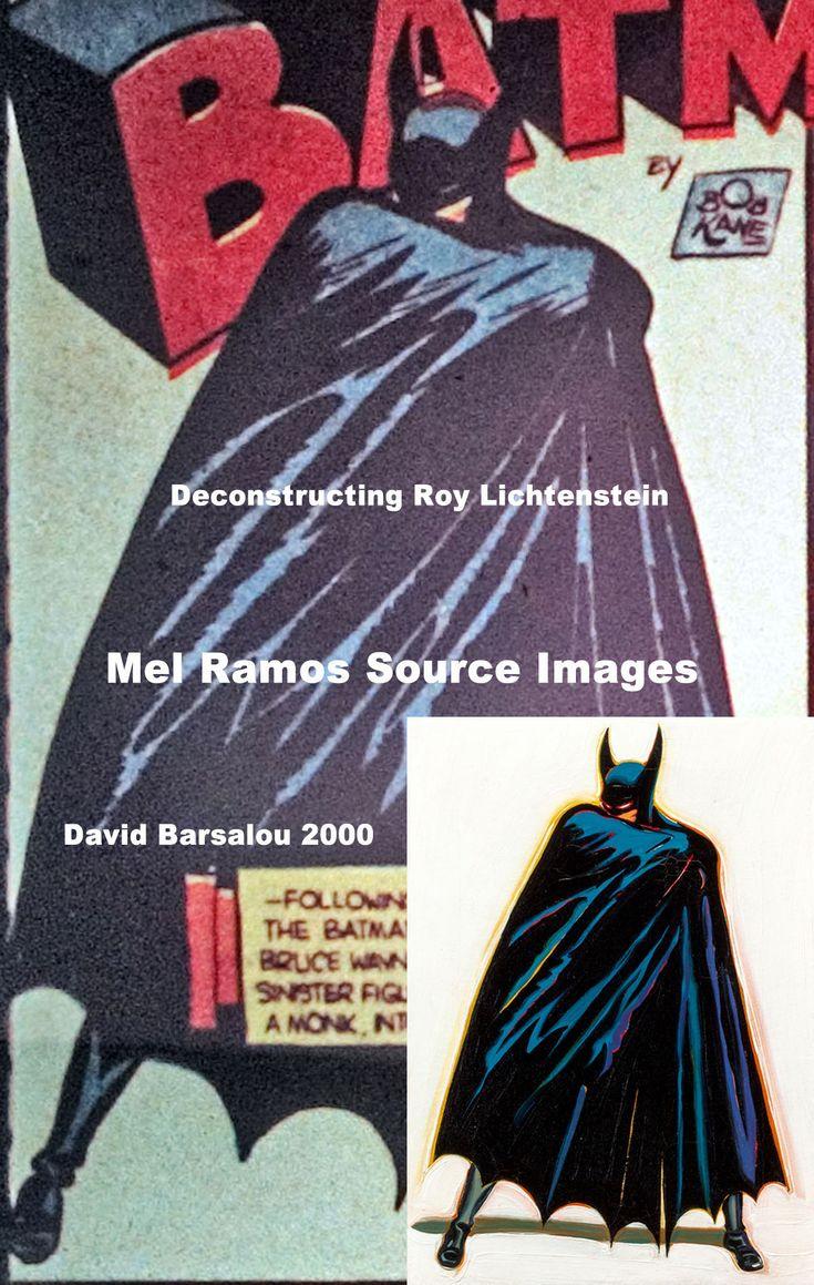 Deconstructing Roy Lichtenstein™ © 2000 Mel Ramos A Sinister Figure Lurks In The Shadows: Original Source Original Artist: Bob Kane  https://www.flickr.com/photos/deconstructing-roy-lichtenstein/39992490841/