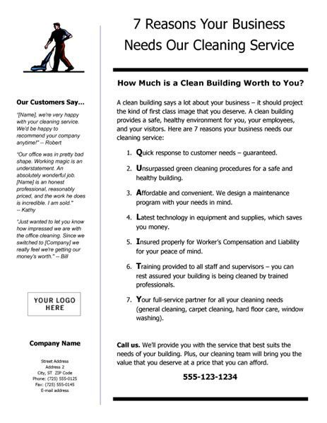 business proposal template for cleaning services business