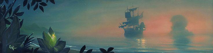 Peter Pan - Neverland Lagoon - Rob Kaz - World-Wide-Art.com - #disneyfineart #robkaz #peterpan