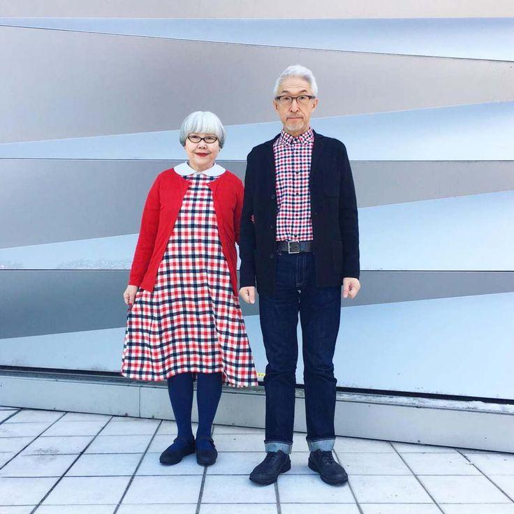 Cet adorable couple japonais, marié depuis 37 ans, adore les tenues assorties ! Tous les deux passionnés par la mode, ils s'amusent depuis quelques mois à pu
