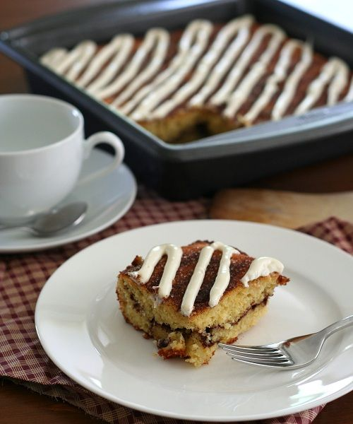Low Carb Cinnamon Roll Coffee Cake Recipe | All Day I Dream About Food