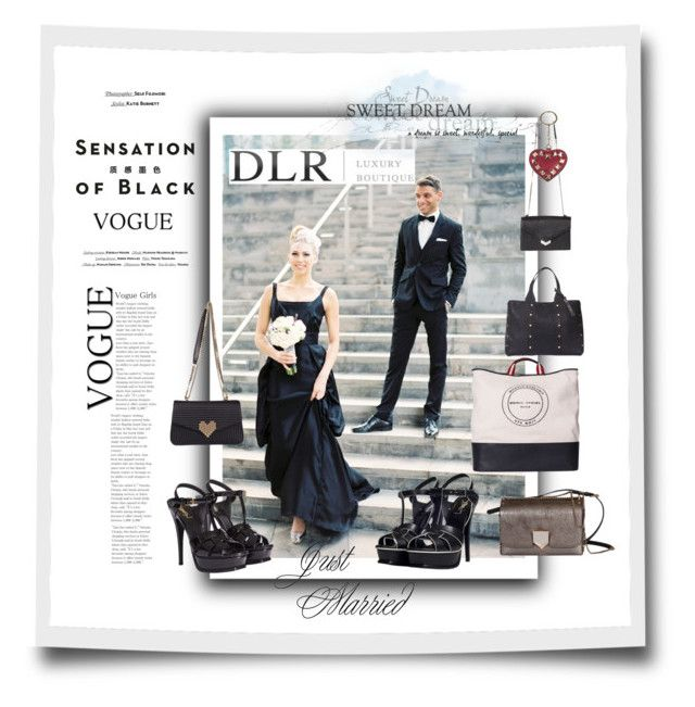 """SALE! DLRBOUTIQUE black wedding dress accessories?"" by caroline-buster-brown ❤ liked on Polyvore featuring Vision, Yves Saint Laurent, Sonia Rykiel, Jimmy Choo, Les Petits Joueurs and Valentino"